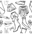 female fashion collection vector image