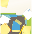 File Notes Desktop vector image vector image
