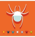 Flat design spider vector image vector image