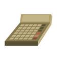 flat icon on stylish background economy calculator vector image vector image
