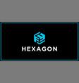 fy hexagon logo design inspiration vector image vector image