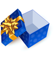 gift box with golden ribbon vector image vector image
