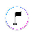 golf flag icon golf equipment or accessory vector image