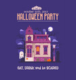 halloween party invitation card vector image vector image