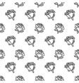 hand drawn romantic doodle pattern-17 vector image vector image