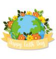happy earth day icon vector image vector image
