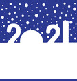 happy new year concept - snowdrifts in shapes vector image vector image