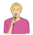 isolated object on white background the guy sings vector image