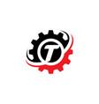 letter t gear logo design template vector image