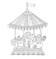 line art of circus theme merry-go vector image vector image