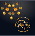 merry christamas design with creative design vector image