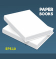 mock-ups of paper books-05 vector image vector image