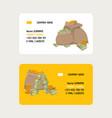 money bag packing in bundles bank notes bills vector image vector image