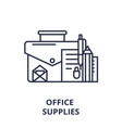office supplies line icon concept office supplies vector image vector image