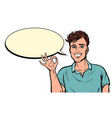 ok gesture young man vector image vector image