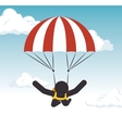 parachuting man extreme sport graphic vector image