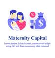 parental or family leave program vector image