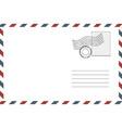 postage retro envelope vector image vector image