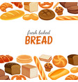 poster template with bread vector image vector image