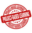 project-based learning red grunge stamp
