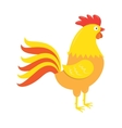 Red rooster figure vector image