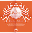 Retro card with bakery logo label vector image vector image