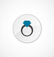 ring icon 2 colored vector image