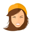 Screaming aggressive woman vector image