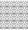 seamless baby pattern with boy and girl in line vector image
