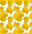 seamless pattern with tulip poplar autumn leaves vector image vector image
