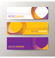 set modern design banners template vector image vector image