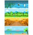 set nature backgrounds and landscapes vector image