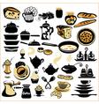 Set of different food - bread pie biscuit cakes vector image vector image