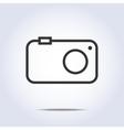 Simple camera icon gray color vector image vector image