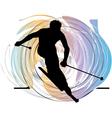 Skiing vector image vector image
