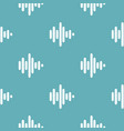 sound wave pattern seamless blue vector image vector image