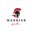 spartan sparta logo helmet logo design vector image vector image
