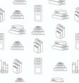 stack books white flat design seamless pattern vector image vector image