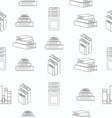 Stack books white flat design seamless pattern