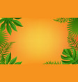 summer banner with tropical leaves frame vector image vector image