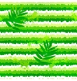 summer green leaves and painted stripesseamless vector image vector image