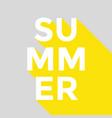 summer poster banner design vector image vector image