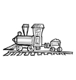 toy steam engine train vector image vector image