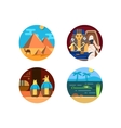 travel to egypt set icons vector image