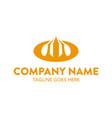 unique automotive logo template vector image vector image