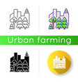 urban forest icon vector image vector image