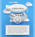 vintage white paper steampunk template with a vector image vector image