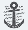 Anchor Pacific ocean vector image