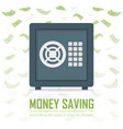 metal bank safe icon in a flat style closed safe vector image