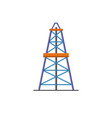 oil derrick icon in flat style vector image